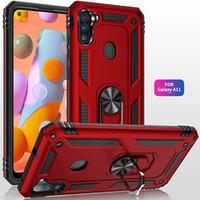 Ultra Ince Zırh Emme Halka Kılıfları Samsung A11 A21 A31 A01 A51 5G LG Aristo 3-4-5 Tribute Monarch Fortune 3 Harmony 4