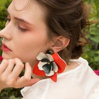 Super large flower Exaggerated Drop Stud Earrings for Women ...