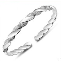 New Fashion Women Wedding Bangles 925 Sterling Silver Adjust...