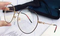 Nuovo disegno di modo di prescrizione ottica occhiali 0529 cornice rotonda popolare stile di alta qualità lente trasparente di vendita HD