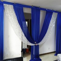 3M*6M wide swags wedding stylist designs backdrop Party Curtain drapes Celebration Stage Performance Background Satin Drape wall draps