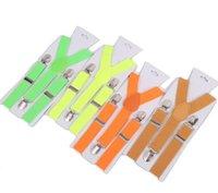 Ajustables de tirantes color del caramelo de los niños tirantes elásticos para niños y Back partido de los niños tirantes Ropa vacaciones correas LSK32
