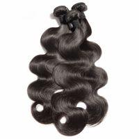 Pacotes de cabelo virgem brasileira Human hairweft cor natural tece corpo reto onda profunda encaracolado loosewave ondulado hairextensions