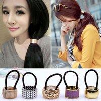 Korean Mädchen Pferdeschwanz Buckle Haarbänder Quetschhahn Haar Ringe elastische Haar-Bänder American Women Haarschmuck