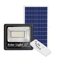 Açık Güneş Enerjili Sokak Sel Işık 10 W 25 W 40 W 60 W 100 W 200 W Güneş Sel Işıkları Uzaktan Kumanda Anahtarı ile
