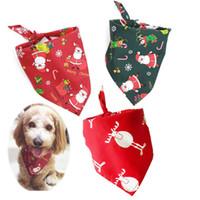 كلب طوق جرو القط وشاح طوق الكلاب منديل هدايا عيد الميلاد الحيوانات الأليفة اللعاب منشفة القطن مثلث وشاح