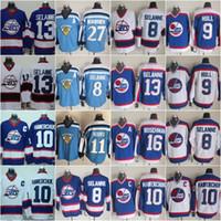 Vintage Winnipeg Jets Hockey Jerseys 13 Teemu Selanne 10 Dale Hawerchuk 9 Bobby Hull 16 Laurie Boschman Vintage CCM 8 Selanne Jersey