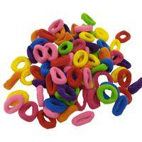 100 pz / lotti Candy Colors Bambino Elastic Gomma Castelli Hairbands Handmade Carino Accessori per capelli Decor per bambini Ragazza