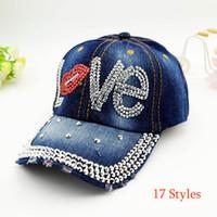 2303ee348bf1a 17 styles womens fashion designer cowboy baseball caps diamond beach hats  women sunshade casquette sport outdoor Adjustable Baseball cap