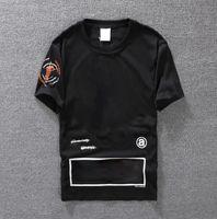 Casual T-Shirt Herrenbekleidung Sommer Designer Shirt Schwarz Weiß Orange Größe S-XXL Baumwollmischung Rundhalsausschnitt Kurzarm Cartoon Print