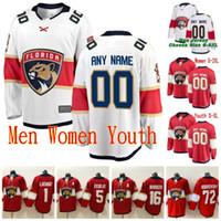 맞춤형 스티치 2020 플로리다 팬더 팬즈 마이크 호프만 건식 덴 Jamie McGinn Riley Sheahan Brady Keeper Red White Hockey Jerseys