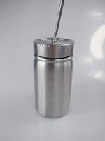 500ml 스테인레스 스틸 메이슨 항아리 더블 벽 뚜껑과 금속 밀짚 커피와 함께 컵 메이슨 컵 컵 마시는 컵 마시는 컵