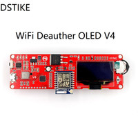 DSTIKE WiFi Deauther OLED V4 Attaque / Piratage WiFi NodeMCU Arduino ESP8266 OLED inclut un support de boîtier arcylic d'antenne 8db