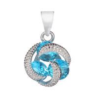 SHUNXUNZE 925 Sterling Zilver Kerst Hanger Vrouwen Voor Sieraden Accessoires Charm Geschenken Paniek Kopen Lichtblauw Cubic Zirconia S-3737