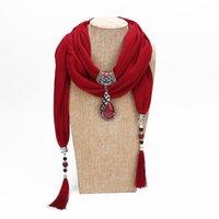 Declaração de colar de jóias Scarf Mulheres Bohemia lenço cabeça Lenços Acessórios LE371