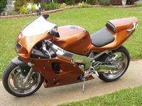 ABS пластиковый обтекательный комплект для Kawasaki Ninja ZX-7R 1996 - 2003 Коричневые китайские обтекивальные комплекты 96-01 02 03 ZX7R ZX 7R