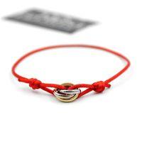2019 Vente chaude de mode en acier inoxydable couple couleur or charme amour bracelet à la main corde bracelet en argent bracelet pour femmes bijoux cadeau à choos
