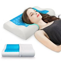 Comfort Memory Foam Gel Pillow For Relaxing Cooling Sleeping
