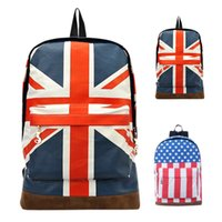 New Fashion union jack travel backpack Casual Women Bag UK B...