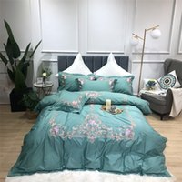 Luxury 100% Egyptian Cotton Bedding Sets Queen King Size Duvet Cover Bed Sheet set Pillowcase bed set