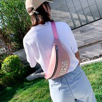 Moda Donna borsa a tracolla Casual Outdoor tinta unita Pearl Zipper fanny pack Borsa petto Wild Ladies Sport Phone