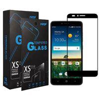 Protetores de tela de capa total de telefone celular para Apple iPhone 13 12 11 Pro XR XS Max Samsung A03S A22 A82 A72 A52 A42 A32 A12 A02S A02 M02 Quadro Preto Vidro Temperado