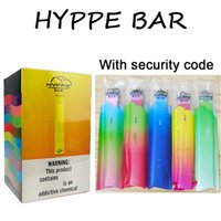 2020 Dispositivo HYPPE Bar monouso Pod con Codice di Sicurezza 280mAh Batteria 1.3ml pre-riempite monouso Carrelli Vape E Cigarette Kit photoes reali