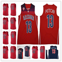 5ce5f6d42cc Mens 13 Deandre Ayton 10 Mike Bibby NCAA Arizona Wildcats Jersey Navy Blue  Red College Basketball Stitched Stitched jerseys Size S-XXL