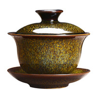 Seramik Çay Gezdirilir Seramik Çay Gezdirilir Çin Kung Fu Çay Seti El Boyalı Retro Porselen Kişisel Fincan Kapaklı