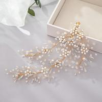 joyería nupcial horquillas de cuentas accesorios de cristal de Europa y América flor tejida a mano de la tiara de novia de la boda de novia para el cabello
