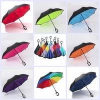 Invertierter Regenschirm C Griff Umkehrschirme winddicht faltende Doppelschicht innerhalb des sonnigen regnerischen C-Hakens Freisprecheinrichtung für Auto YP7335