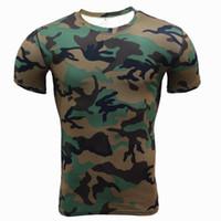 Hızlı Kuru Egzersiz Elbise Koşu Basketbol Kamuflaj Tişörtleri Spor Spor Erkek Tişörtleri Tasarımcı Açık Absorbe Ter