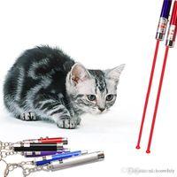 Hthome 2in1 rossa puntatore laser puntatore penna anello con bianco LED luce show portatile stick infrarosso a infrarossi divertenti gatti pet giocattoli con imballaggio al dettaglio