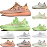 Chaud Pas Cher Kanye West Clay V2 Static Reflective Rainbow Décoloration Hommes Chaussures De Course Hyperspace True Form Femmes Sports Designer Baskets