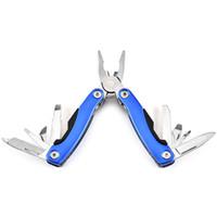 معدات بقاء متعددة الوظائف كماشة صغيرة قابلة للطي الملاقط بما في ذلك المفك المدون سكين فتاحة في الهواء الطلق أداة اليد كماشة VT0898