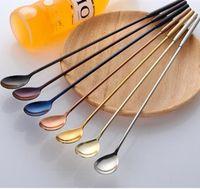 7 adet Bar Kaşık Paslanmaz Çelik Uzun Kokteyl Whisks Altın Swizzle Barware Muddlers İçme Araçları Bar Malzemeleri Sticks