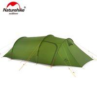 NatureHike Ultralight Opalus Tunnel Tellnel para 2 ~ 4 personas 20d / 210t Tela de campaña de tela con footPrint NH17L001-L