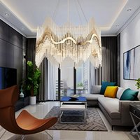 Luxury Modern Crystal Chandelier Gold Hanging Living Sala da pranzo Illuminazione Luxury LED Lustres de Cristal 100-240V Free UPS