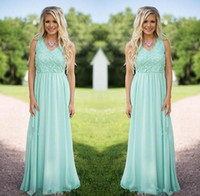 2019 New Designer Mint Green Chiffon Bridesmaid Dresses Deep...