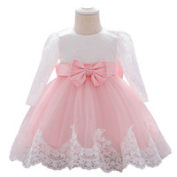 Ins Lace baby girl dress bows long sleeve girls dresses baby...