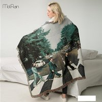 Fashion Winter Blanket for Beds Perpon Print Thread Line Bla...