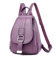 2019 جلد النساء حقائب تحمل على الظهر خمر أنثى الكتف حقيبة كيس من أكياس دوس سفر السيدات مدرسة Bagpack للبنات