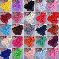 فتاة النساء طباعة الشيفون وشاح والأوشحة سرق منديل مصنع CLEARANCE بيع 160 * 55CM 20PCS / LOT # 3980