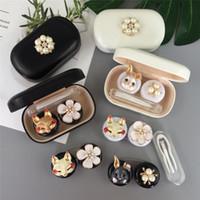 Fox Coniglio lenti del contatto per le donne perla simulata di obiettivi di Cute 8 Stili occhiali Casi Contenitore di regalo