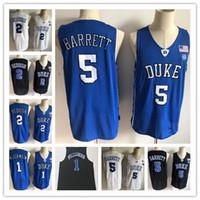 46f4fb0cd0d1 New Arrival. 2019 New Duke Blue Devils NCAA RJ Barrett Jerseys Mens  1 Zion  Williamson 2 Cam Reddish Bagley Royal Black White College Basketball Jersey