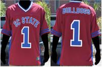 Özel erkekler Gençlik kadın # 1 Güney Carolina Devlet kadın BULLDOGS Futbol forması boyutu s-4XL veya özel herhangi bir isim veya numarası jersey