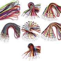 Clips de cordón Collar colorido Cuerda Cuerda Cuello para Caliburn NOVO Evod EGO Pod Ecig con tapa antipolvo de silicona o anillo 7 Tipos DHL