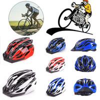 Bicicleta Ciclismo Homens Womens bicicleta capacete com viseira montanha à prova de choque