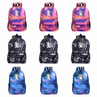 Dessin animé Sac à dos Licorne Galaxy Imprimé Galaxy Épaules Enfants Sac à l'école Voyage Camping Sac à dos Haute capacité 32 Styles HHA485