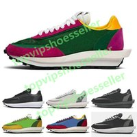 Sacai LDV Waffle Running Shoes for Men Women black white gre...